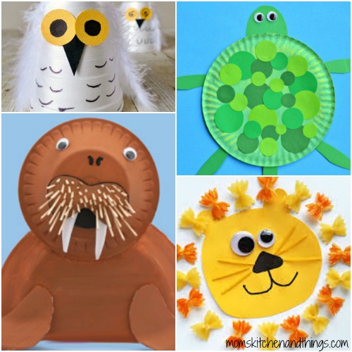 Paper Plate Walrus  sc 1 st  Crafty Morning & 40 Fun Animal Crafts for Kids - Crafty Morning